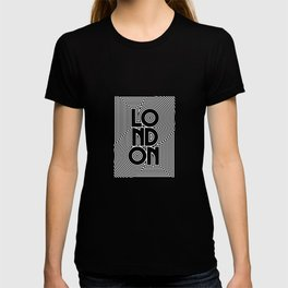 London City Text Pattern England T-shirt