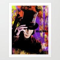 willy wonka Art Prints featuring Willy Wonka  by Zoé Rikardo
