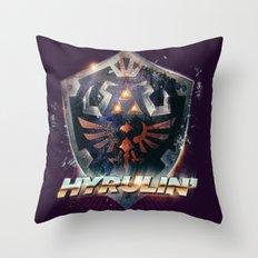 Yeah she sees my Hyrulin' - 80's Legend of Zelda Shield Throw Pillow