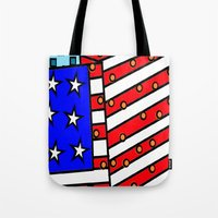 american Tote Bags featuring American by Mariana