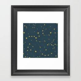 Constellation Pattern (Antique Gold) Framed Art Print
