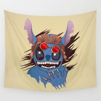 stitch Wall Tapestries featuring Angger Stitch by rendhy wahyu