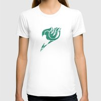 fairy tail T-shirts featuring Fairy Tail Segmented Logo Happy by JoshBeck