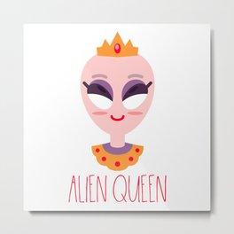 Alien Queen Women Extraterrestrial Mars Space Sci-Fi Gift Metal Print