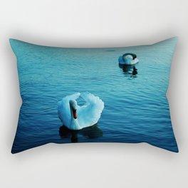Swans of lake Balaton Rectangular Pillow