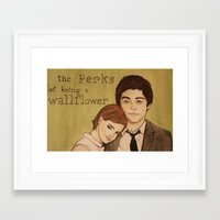 the perks of being a wallflower Framed Art Prints featuring The Perks of Being a Wallflower by Gillian Head