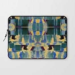 Avalon - Abstract Boho Geometry Green Blue Gold Laptop Sleeve