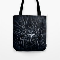 evil Tote Bags featuring Evil by GLR67