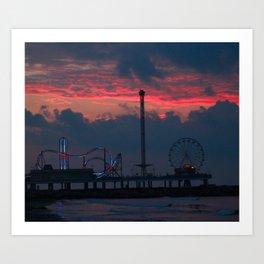 Life on the Pier Art Print
