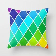 Tetrahedral Rainbow Throw Pillow