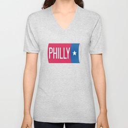 Philadelphia D Battery Unisex V-Neck