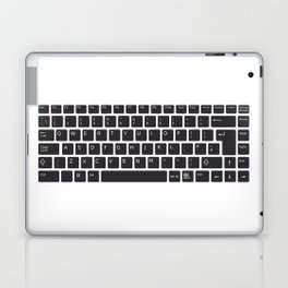 Computer Keyboard Buttons Silhouette Laptop & iPad Skin