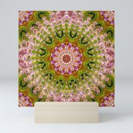 Hot Pink Green Energy Mandala Mini Art Print