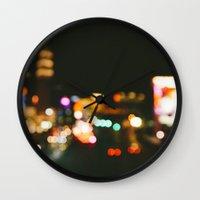 las vegas Wall Clocks featuring Las Vegas by Alden Terry