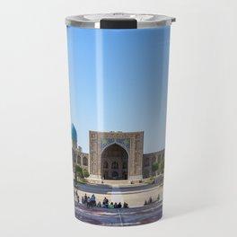 Registan square in Samarkand Travel Mug