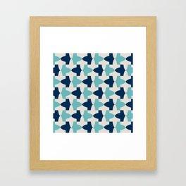 Alhambra Motif Blue Palette Framed Art Print