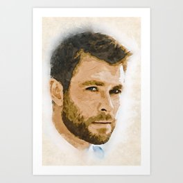 A Tribute to CHRIS HEMSWORTH Art Print