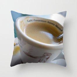 Sidewalk Coffee Throw Pillow