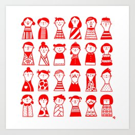 Little dolls Art Print