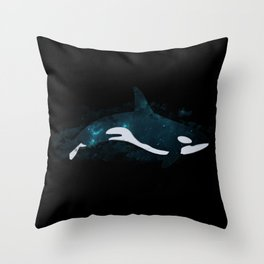 Space Whale Throw Pillow