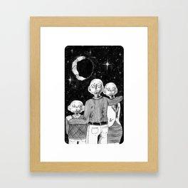 Gosh, Would Ya Look At That Moon? Framed Art Print