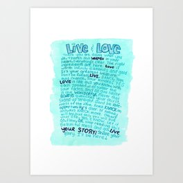 Live Your Story Art Print