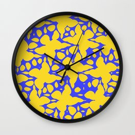Asymmetry collection: abstract flowers in the water Wall Clock