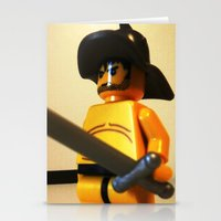 gladiator Stationery Cards featuring SPARTACUS THE GLADIATOR CUSTOM LEGO MINIFIG by Chillee Wilson by Chillee Wilson [Customize My Minifig]