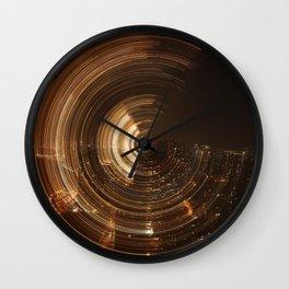 NY Swirl Wall Clock