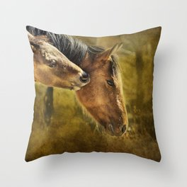 Horsing Around No. 2 - Pryor Mustangs Throw Pillow