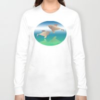 dolphins Long Sleeve T-shirts featuring dolphins by Ruud van Koningsbrugge