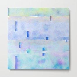 Watered Blue Metal Print