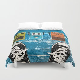 Guitar Music Effect Pedals Duvet Cover
