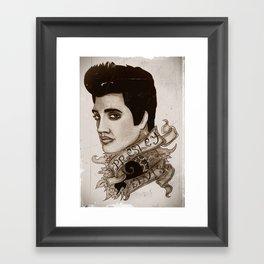 The King of Rock 'n' Roll (Elvis Presley) Framed Art Print