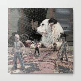the beast and the zombies Metal Print