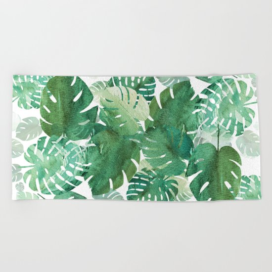 Palm Leaves Boom! Beach Towel