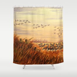 Goose Hunting Companions Shower Curtain