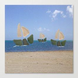 I Saw Three Ships On Christmas Day #Christmas Canvas Print