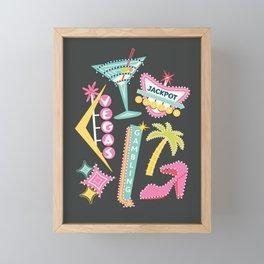 Viva Las Vegas Framed Mini Art Print