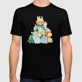 Cute Dino Pattern T-shirt
