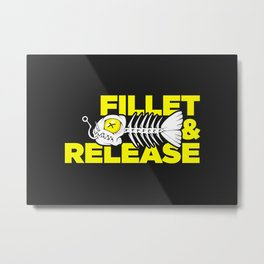 Fillet And Release Yellow Metal Print