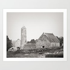 Clonmacnoise round tower Art Print