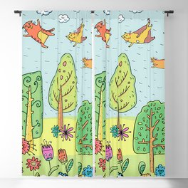 Cats in the Sky Blackout Curtain
