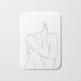 Nude life drawing figure - Celina Bath Mat