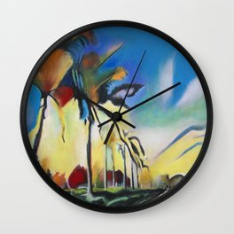 Palm Road Wall Clock