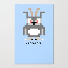 8 Bit Jackalope Canvas Print