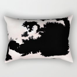 black, white and pink abstract 25 Rectangular Pillow