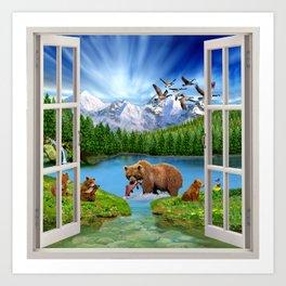 Window to the Great Bear Wilderness Art Print