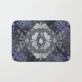 Live and Die in front of a mirror Bath Mat