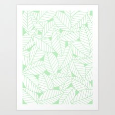 Leaves in Wintergreen Art Print
